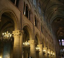 Medieval Magic - Interior of Notre Dame cathedral by CreativeUrge