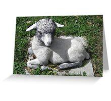 Ba Ba Lawn Sheep ..Garden Ornament Greeting Card