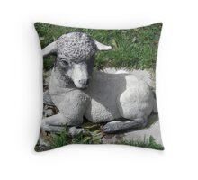 Ba Ba Lawn Sheep ..Garden Ornament Throw Pillow