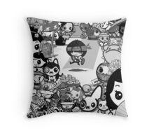 mikoto's Black & White (sans Logo) Throw Pillow