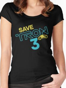 Save Tron 3 [color] Women's Fitted Scoop T-Shirt