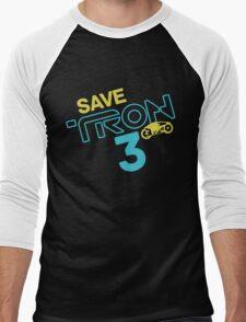 Save Tron 3 [color] Men's Baseball ¾ T-Shirt
