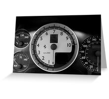 Stratospheric Rev Counter Greeting Card