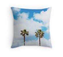 3 Palm Trees Throw Pillow