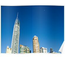 Gold Coast Sky Line, taken from the beach. Poster