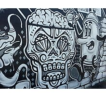Skull Graffiti Photographic Print