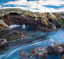 """Blue Water Flow"",Point Roadknight,Anglesea. by Darryl Fowler"