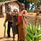 Malawi: children with plantains by Anita Deppe