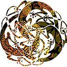 Tattoo Mandala Lizards -  Sun Rays on Grass Tattoo by DreaMground