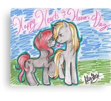 Happy Hearts & Hooves Canvas Print