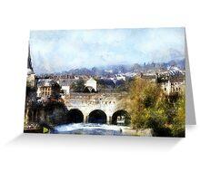 bridge city of bath Greeting Card