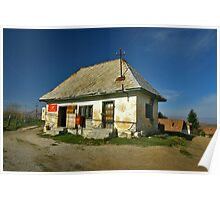 Isolated post office. Poster