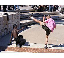 Getting his Kicks - Nice, France Photographic Print