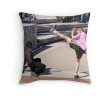 Getting his Kicks - Nice, France Throw Pillow