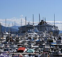 Crowded Harbour - Monaco by David Dutton