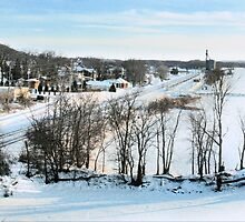 Winter on the Mississippi (Savanna, IL) by Nadya Johnson