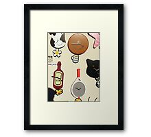 Clocks. Clocks. Clocks - Manchester time. Framed Print