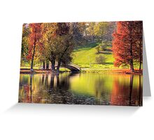 Rusty Autumn morning Greeting Card