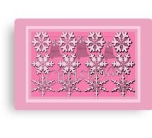 Christmas in the Pink Canvas Print