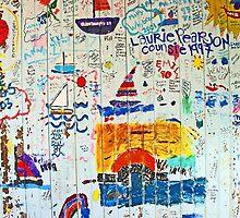 colorful wall by Lynne Prestebak