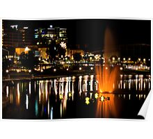 Nighttime on the Torrens Poster