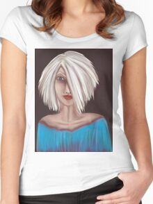 Portrait 01 Women's Fitted Scoop T-Shirt