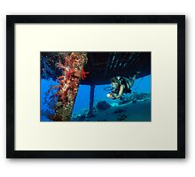 Jacques Cousteau's Precontinent II Framed Print