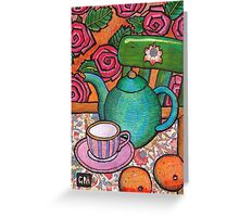 A teapot for Alice Greeting Card