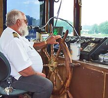 Paddle Wheel Pilot  (Spirit of Dubuque) by Nadya Johnson