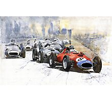 Red Car Ferrari 801 German GP 1957 Photographic Print
