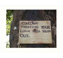 Criminal Sign. Grenada Art Print