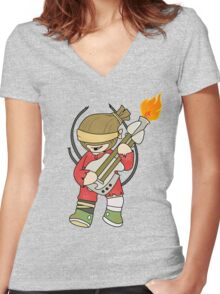 The Doof Warrior Women's Fitted V-Neck T-Shirt