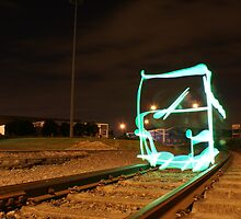 Green Train  by raggaphoto