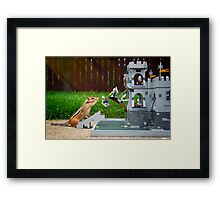 Storming The Castle Framed Print