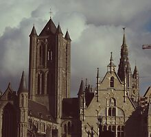 Cathedral in Ghent, Belgium by AdventureSetter