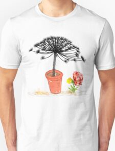 Hogweed in a pot with pretty flower. T-Shirt