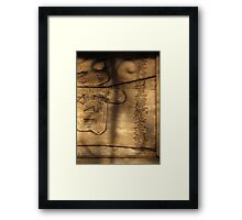 Old characters Framed Print