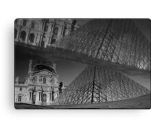 Musée du Louvre, a reflection of, Paris Canvas Print