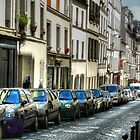 Street in Montmartre, Paris. by NancyR