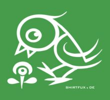Bird - humor, fun, forest animals, flying by fuxart