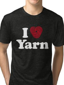 I Heart Yarn Tri-blend T-Shirt