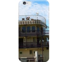 Bow of 'Murray Princess' tied at Wharf, Mannum. Sth. Aust. iPhone Case/Skin
