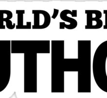 World's Best Author Sticker