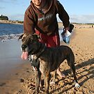 36 Stuart with Riley the Great Dane-Wolf Hound by Cathie Brooker
