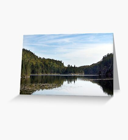 Summer Lake and Flowers Greeting Card