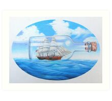 """""""Ship in a Bottle"""" Art Print"""