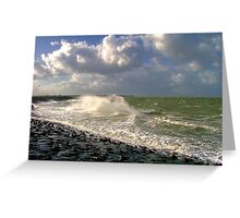 Water, Wind & Clouds Greeting Card