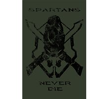 Spartans Never Die - Halo Photographic Print