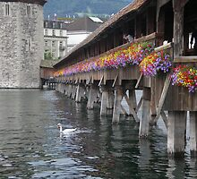 Flowered Bridge - Switzerland - On Tour Europe by chijude