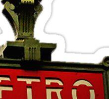 metro. Sticker
